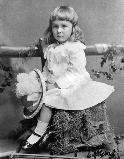 President Roosevelt as a child