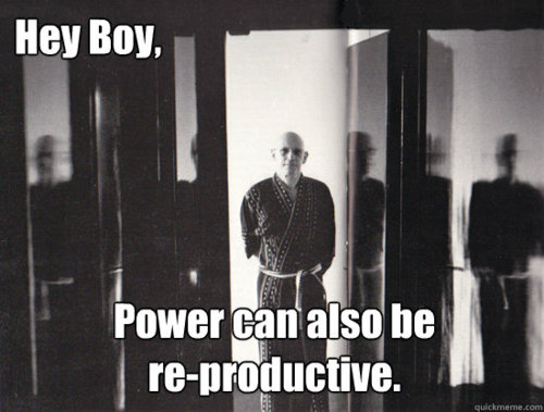 Power can also be re-productive