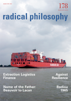 Radical Philosophy Cover