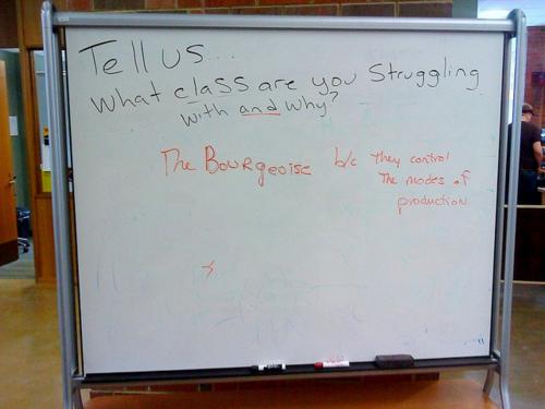 Bourgoise Class Struggle White Board