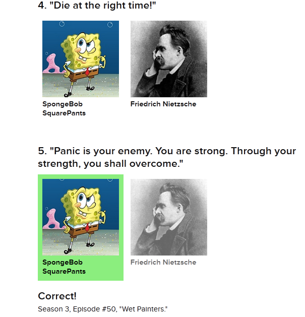 Spongebob and Nietzsche