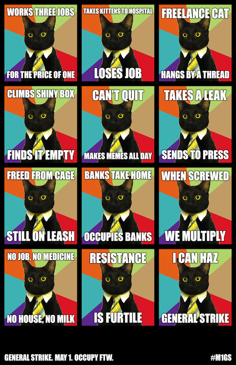 May Day Cat Poster