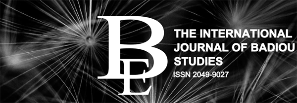 The International Journal of Badiou Studies is Now a Thing