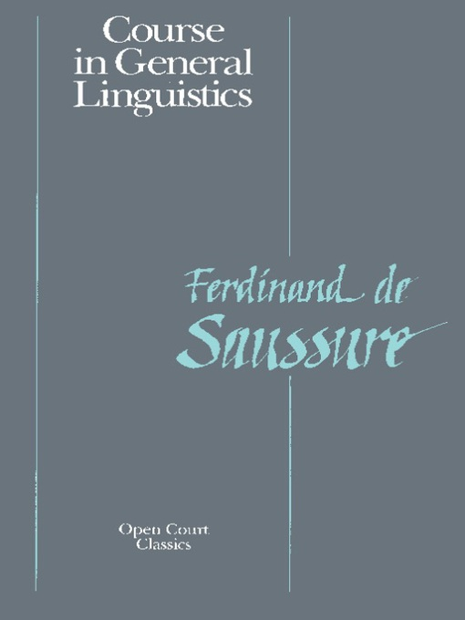 Saussure - Course on General Linguistics