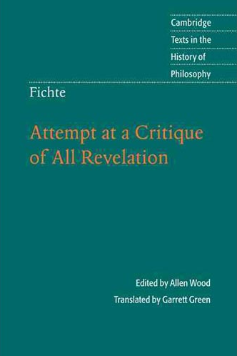 fichte critique pure revelation