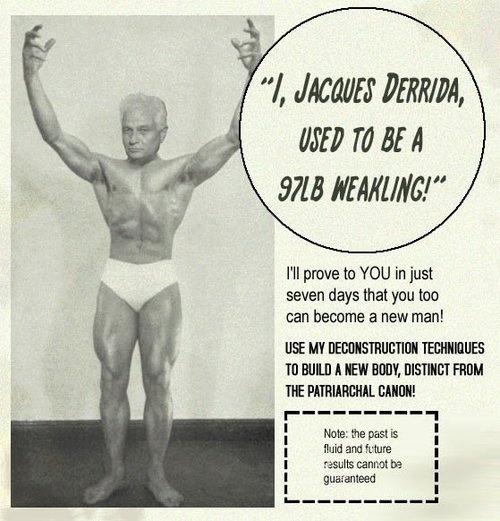 derrida bodybuilder