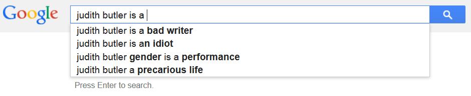 judith butler google