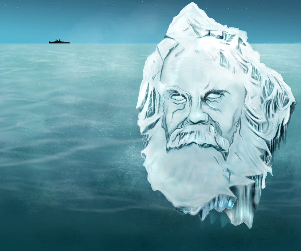 karl marx as an iceberg