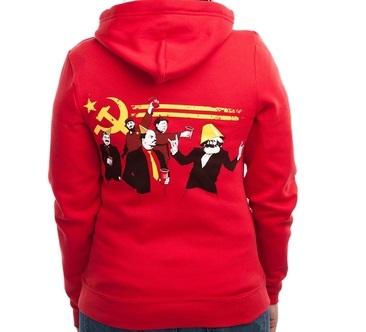 communist part hoodie back