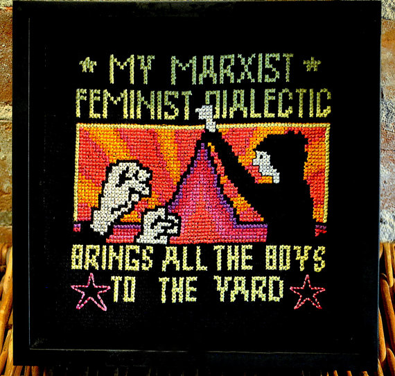 feminist marxist cross-stitch
