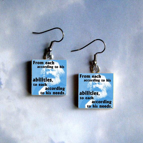 karl marx earrings