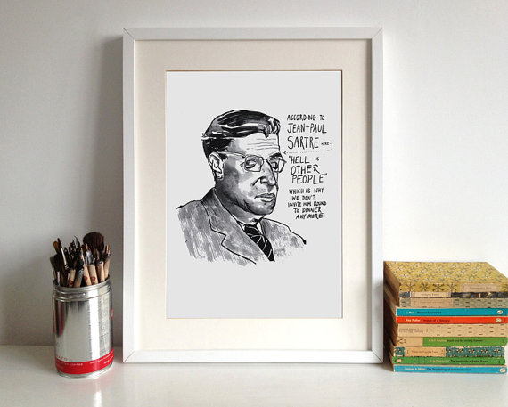 sartre poster two