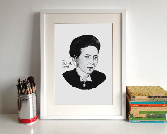 simone de beauvoir poster 2