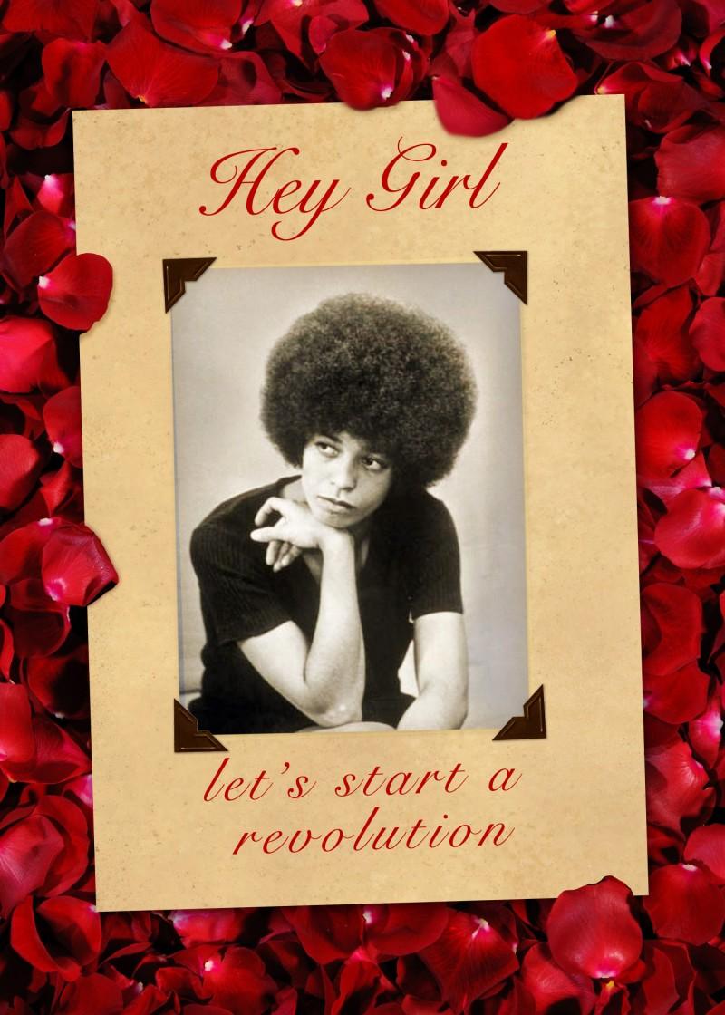 Angela Davis Valentine Card Critical Theory
