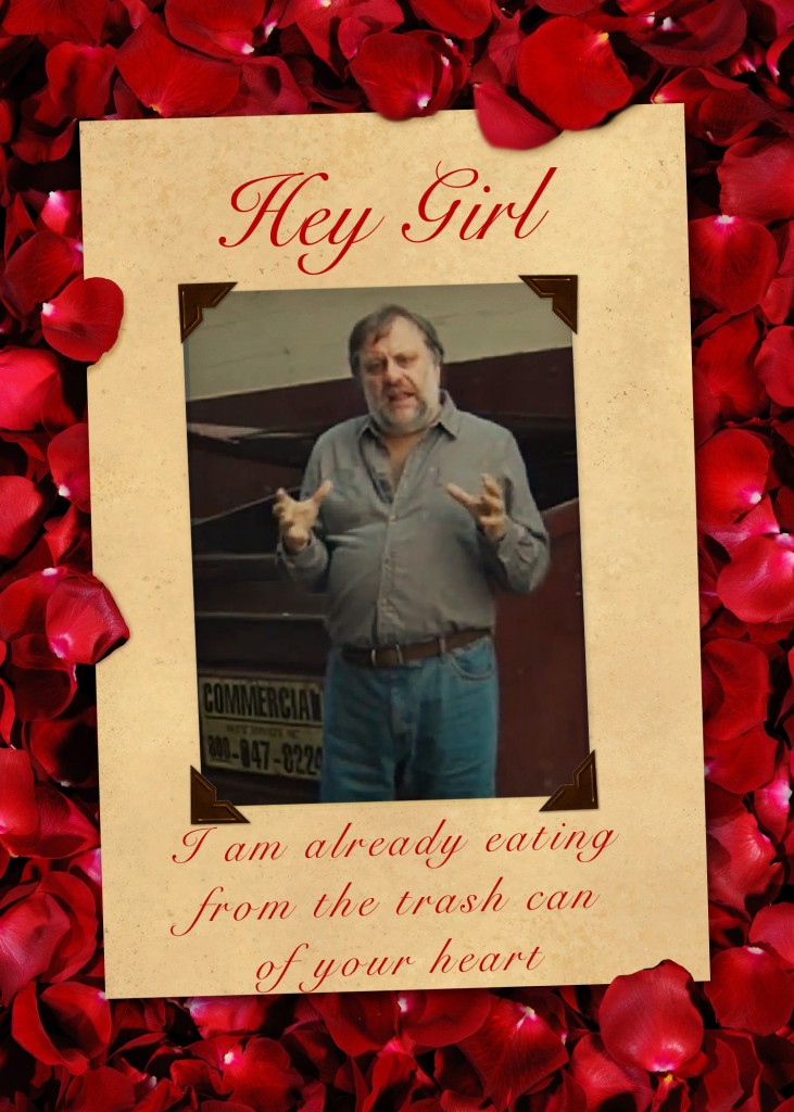 Slavoj Zizek Valentine Card Trash Can