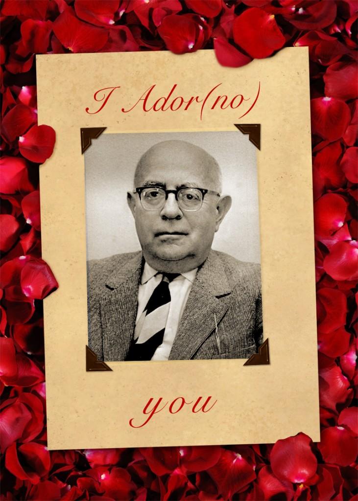 adorno valentine card