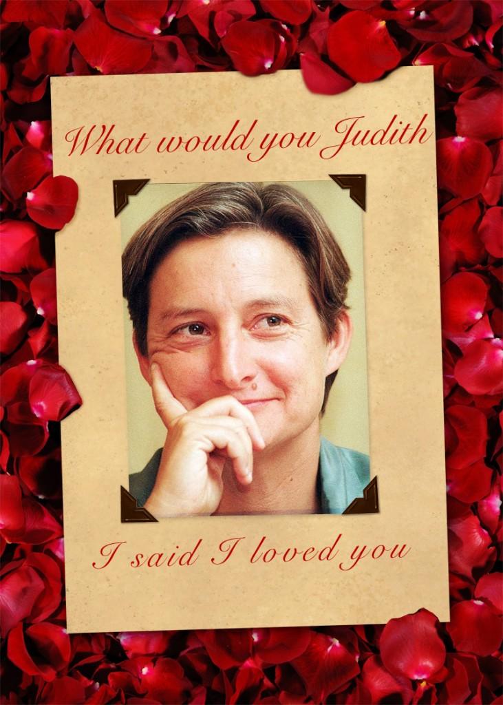 judith butler valentine card