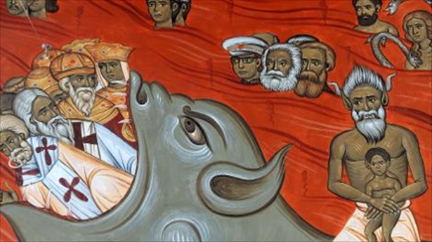 Church Mural Depicts Marx & Engels Burning in Hell