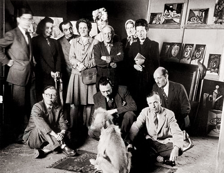sartre beauvoir picasso dog
