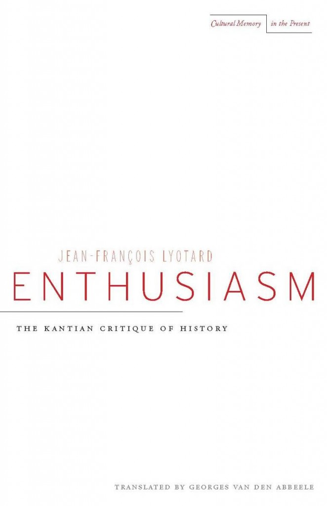 enthusiasm lyotard