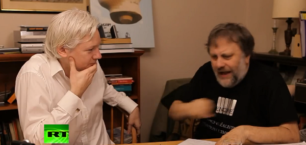 Slavoj Zizek, Julian Assange, and David Horowitz Walk Into a Bar – Just Kidding, This is Real
