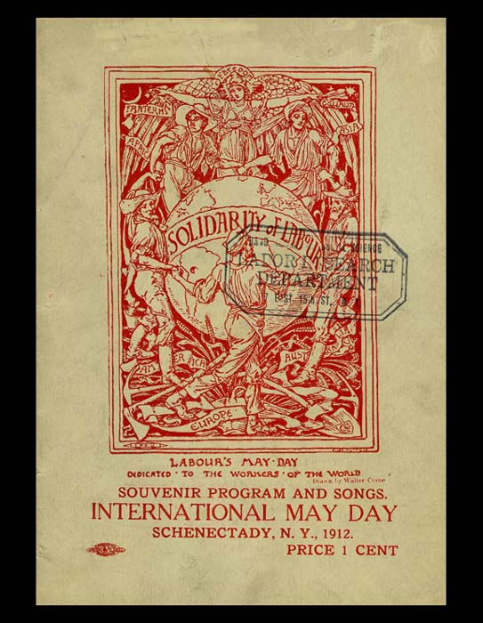 Source. This was the program from May Day events held in New York in 1912.