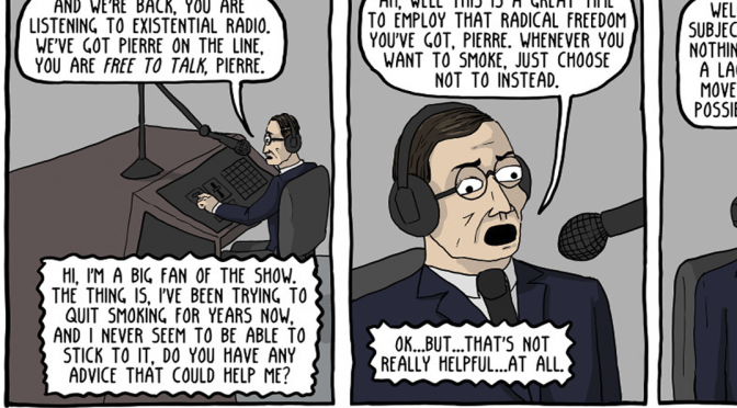 Existential Radio with Jean-Paul Sartre [Comic]