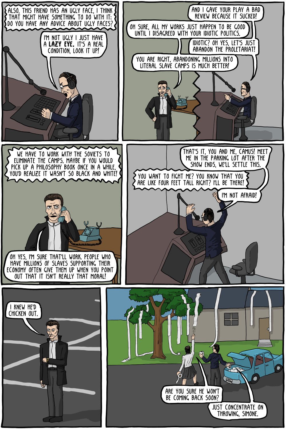 Existential Radio with Jean-Paul Sartre [Comic] | Critical-Theory com