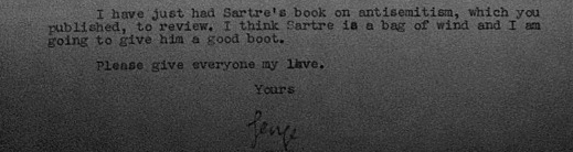 george orwell sartre note