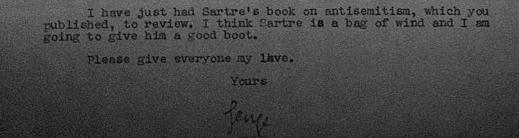 george orwell sartre note