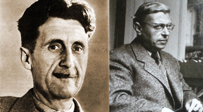 George Orwell Trolls Jean-Paul Sartre in 1948