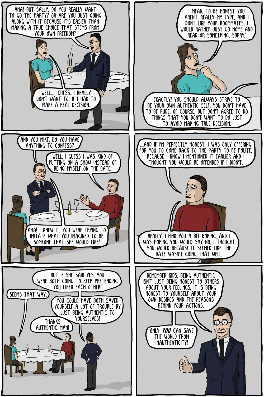 The Adventures of Authentic Man [Comic] | Critical-Theory com