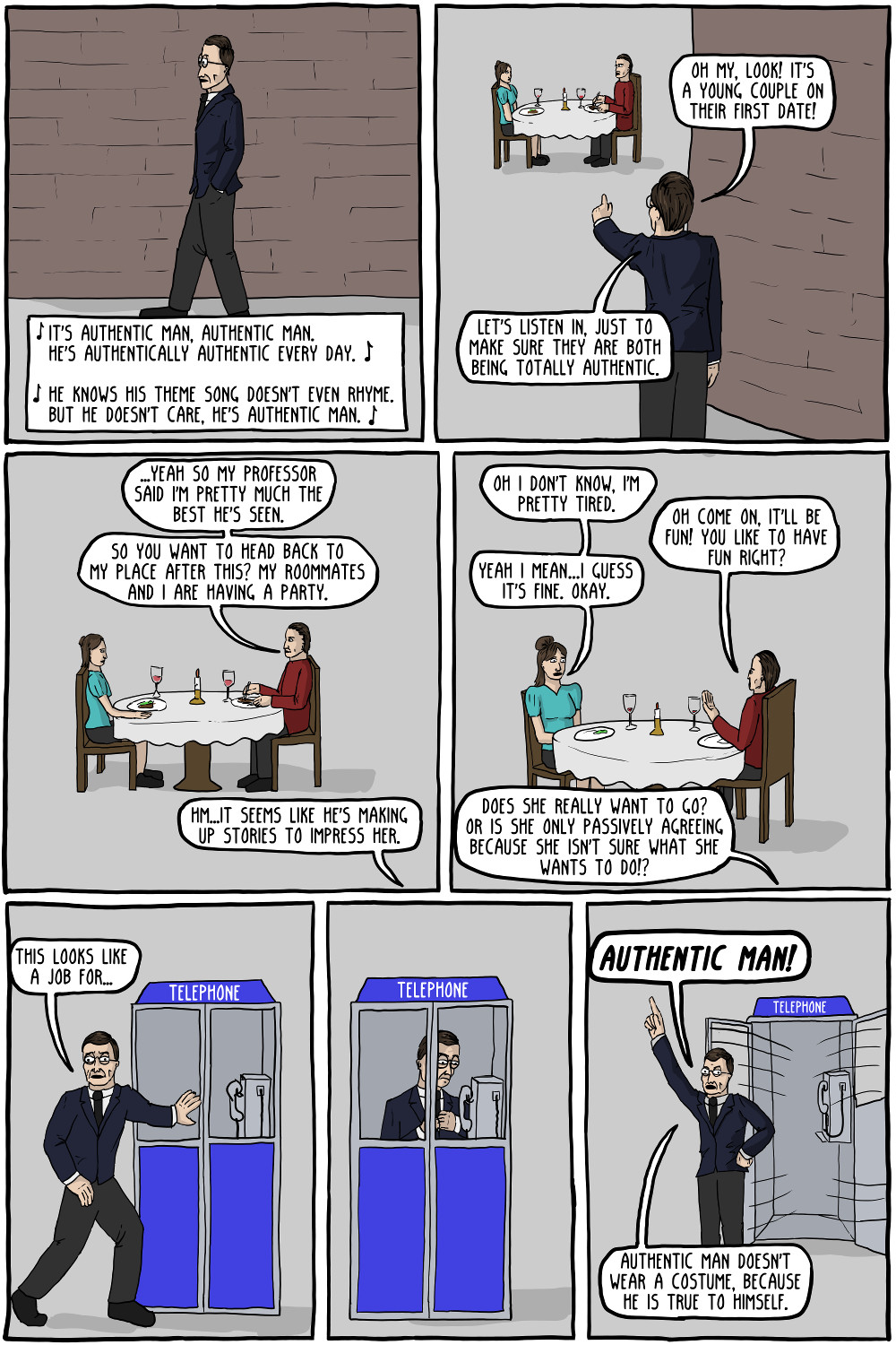 The Adventures of Authentic Man [Comic]   Critical-Theory com