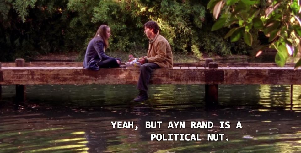 ayn rand gilmore girls
