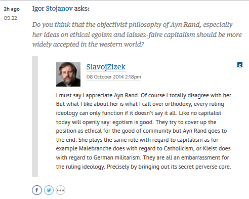 zizek on ayn rand