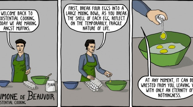 Existential Cooking with Simone de Beauvoir [Comic]