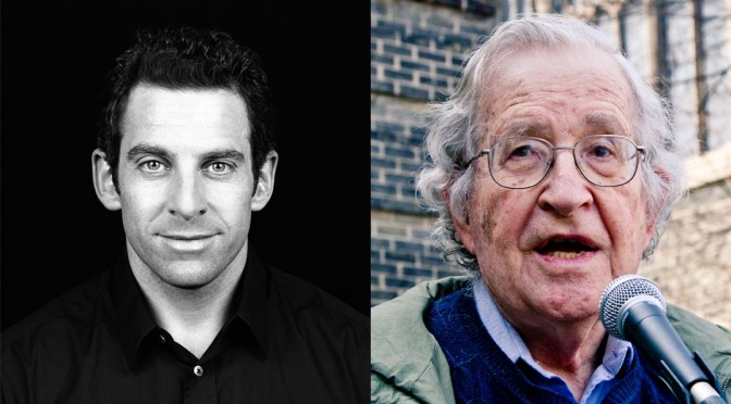 Sam Harris Awkwardly Debates with Noam Chomsky