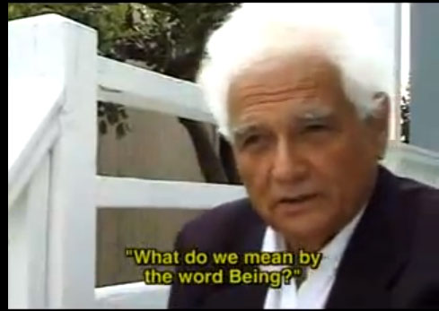 Watch Jacques Derrida Explain the Question of Being and the 'Trace'