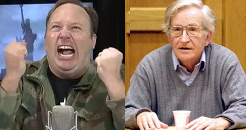 Noam Chomsky Compliments Alex Jones, Jones Freaks Out on Chomsky