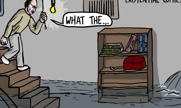 [Comic] Peter Singer Investigates a Basement Flood