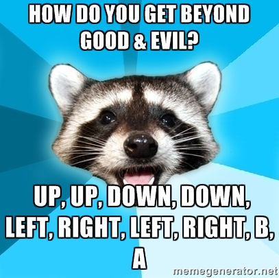 beyond good evil pun