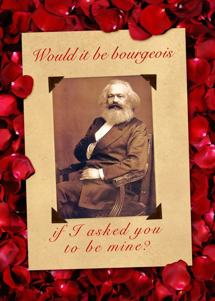 Karl Marx Valentine Card