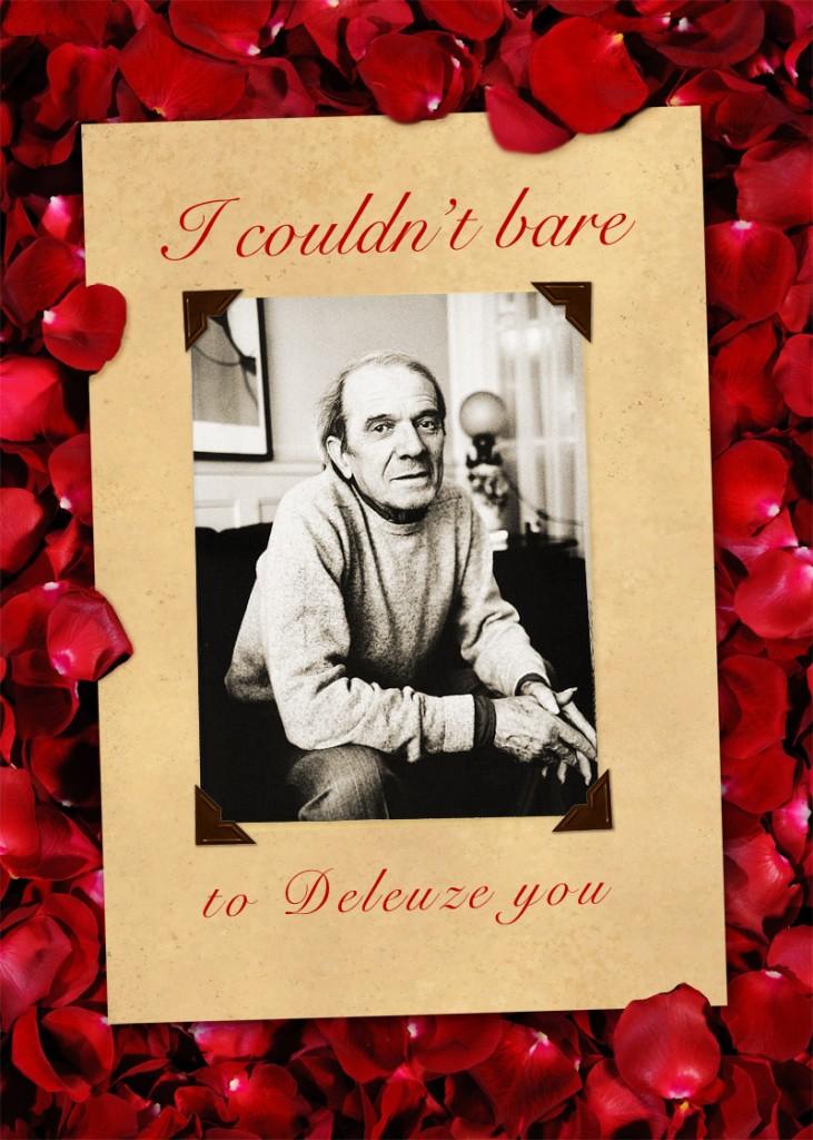 deleuze valentine card