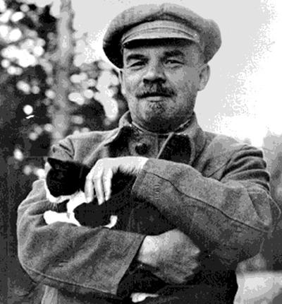 lenin with cat