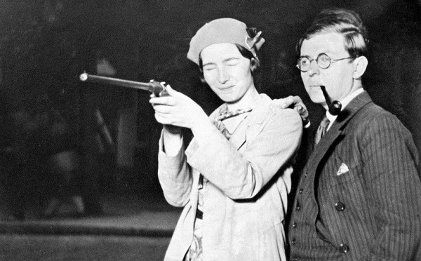 Yeehaw, Beauvoir and Sartre Shooting Guns Together