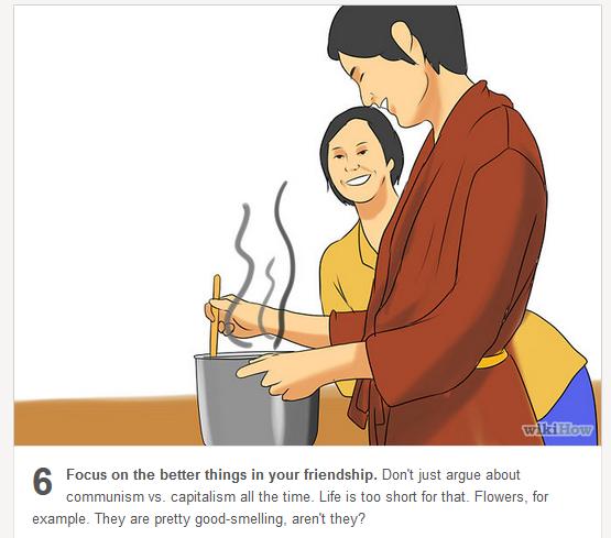 communist friend making soup