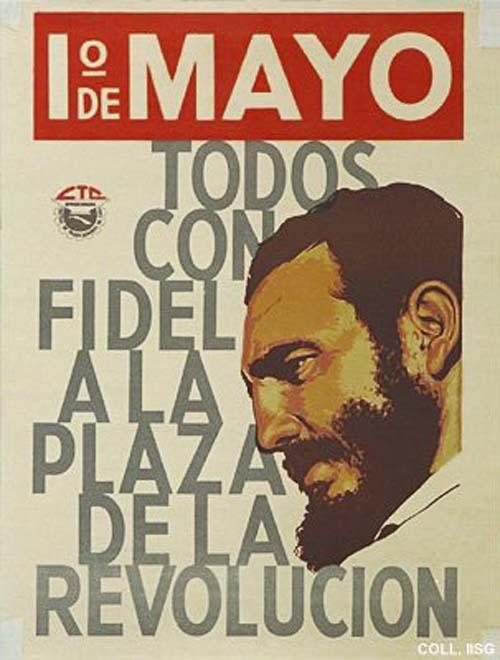Cuban May Day poster