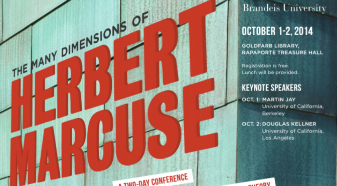 Herbert Marcuse Conference Schedule Announced