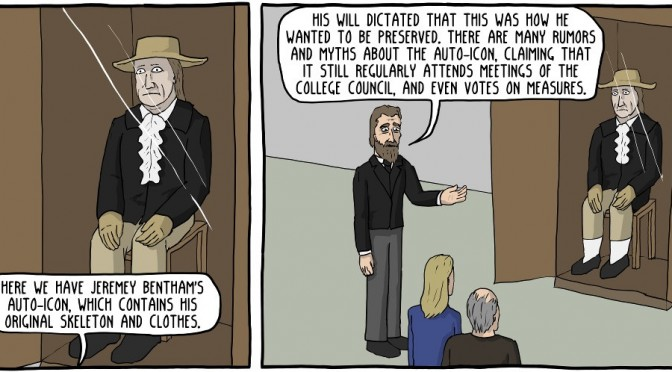Jeremy Bentham's Creepy Corpse Does Battle [Comic]