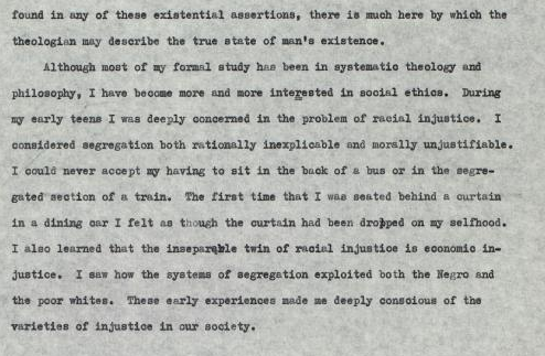 martin luther king existentialism 2